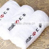 100% Cotton 30*30CM Plain Hotel Hand Towel/Brand Logo Hand Towel