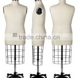 male upper body tailoring mannequin with collapsible shoulder and adjustable stand