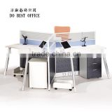 aluminum partition office cubicle workstation, 3 person workstation