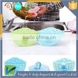 3PCS Smiling face Clip type Drainer Kitchen Rice washing device Colanders Strainers Fruit Vegetables Grain Filter
