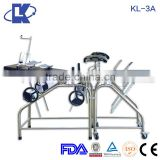 (KL-3A) Portable Stainless Steel Labor And Delivery Beds gynecological examination table ELECTRIC obstetric delivery table