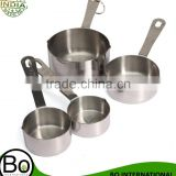 New Arrival 4pcs 1/4-1inch Stainless Steel Measuring Cups Spoon Set For Kitchen Measure Tool