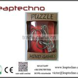 Mind Game Brain Teaser IQ Test Metal Wire Puzzles