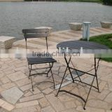 garden iron folding chair and table,teak garden furniture,plastic wood folding iron table and chair