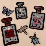 New technique garment accessories embroidery motif strass hotfix rhinestone