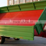 tractor hydraulic farm tandem tippping trailer, tipping wagon, dump trailer, dump wagon 7 Ton, rear and side tipping