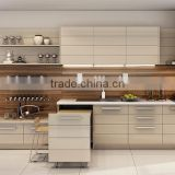 Modern Style Wooden Kitchen Cabinet, Customized Kitchen Furniture Set, Simple Design Base Cabinet With Countertop Island
