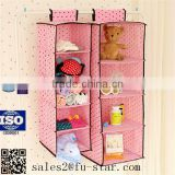 Eco Friendly Non Woven Fabric Hanging Organizer Storage Plastic Pocket Hanging Organizer