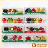 Resin fridge magnet miniature food series custom fruit shaped mini set