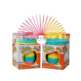 factory direct selling explosion models 10.5cm large rainbow colors magic spring toy slinky