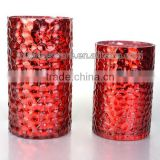 new design colored glass vase with different size
