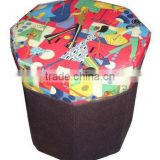 Multi-function folded storage box stool