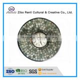 Home Decoration Casual Style Colored Glass Round Shape Wall Antique Clock
