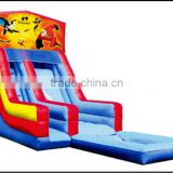 (HD-9606)NEW!PVC Slide with Pool cheap inflatable tree house water slide