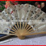 handcrafted lace folding bamboo fan