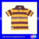 overseas clothing manufacturer polo shirt china wholesale fashion stripe kids polo shirt for children