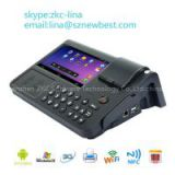 7 inch Android POS System,POS Terminal with Thermal Printer, nfc pos terminal