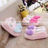 Factory customize High quality plush indoor slippers OEM welcome