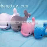 Custom fashion soft plush whale toys,soft whale toy