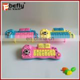 Electric plastic music instruments candy toy promotional