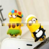 custom cartoon characters shape plastic anti dust plug,custom plastic dust plug for cellphones