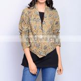 Cotton Kalamkari Front Open Jacket for women