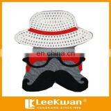 Lovely Old Man Face With Hat Applique Embroidery Badge For Decration