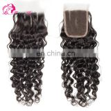 Qingdao hair factory Hot selling top brazilian hair lace closure bleached knots