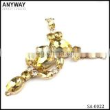 Wholesale handmade jewelry gold rhinestone shoe buckle shoe chain decoration