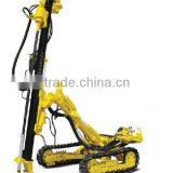 2013 drill rig for sale !!depth 25m,diameter:105-140mm,KC140 High-speed Portable Crawler DTH Drilling Rig