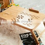 New beautiful design multifunctional bamboo computer desk bamboo laptop table breakfast bed serving tray