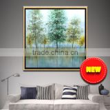 Modern art home decoration beautiful tree & chinese girl back oil painting Modern art home decoration for living room