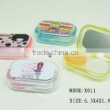 walmart gold supplier bling contact lens case contact lens box,cheap catoon contact lens case