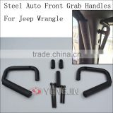 New Steel Car Front & Rear Grab Handle stainless Bar Grab Handrail for Jeep Wrangler JK 07-15