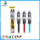 REMAX 2 in1 Micro USB to Reversible USB Data Sync Charge Cable for iPhone 6 6S 6Plus and Android