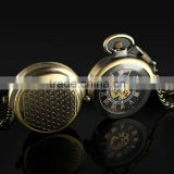 Men's Copper Case Skeleton Dial Mechanical Pocket Watch WP115