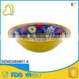 wholesale price porcelain imitating retro design salad bowl melamine