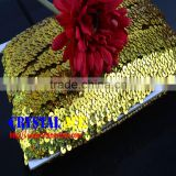 3 Rows Gold Sequin Trims For Dress China