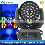 China professional RGBWA+UV 6in1 36x18 led zoom heads flashlight rechargeable                                                                         Quality Choice