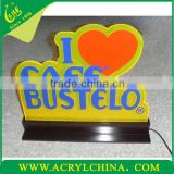 2013 acrylic logo sign logo display stand LED logo display a gift to lover