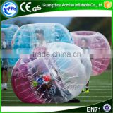 Best selllig CE crazy games bubble soccer ball,inflatable sumo ball for audlt n kids