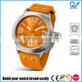 Design your own watch easily quartz stainless steel wholesale wrist watc eco friendly rubber band SGS test 10ATM water resistant