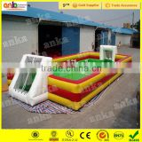 New portable inflatable indoor soap football / soccer field for sale