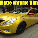 matte chrome vinyl shiny yellow color 1.52*20m with air free bubbles