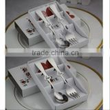C142 new design dinner set stainless steel tableware spoon and fork