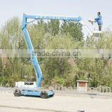 china hydraulic jack spider trailer aerial man lift platform electric articulated boom lift 10 m