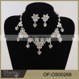 fashion crystal rhinestone necklace set bridal jewelry sets for anniversary and party