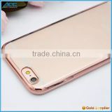 New arrival rose golden color Belle electroplated TPU soft case for iPhone 6S/6S Plus
