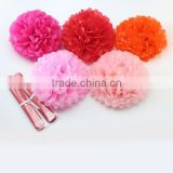 2015 Hanging decorative tissue paper pom poms flower balls