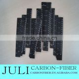 3K surface Carbon Fiber scale ruler, customized carbon fiber measuring tool for special use